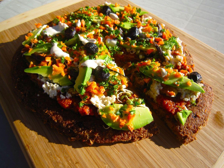 Pizza cru vegan