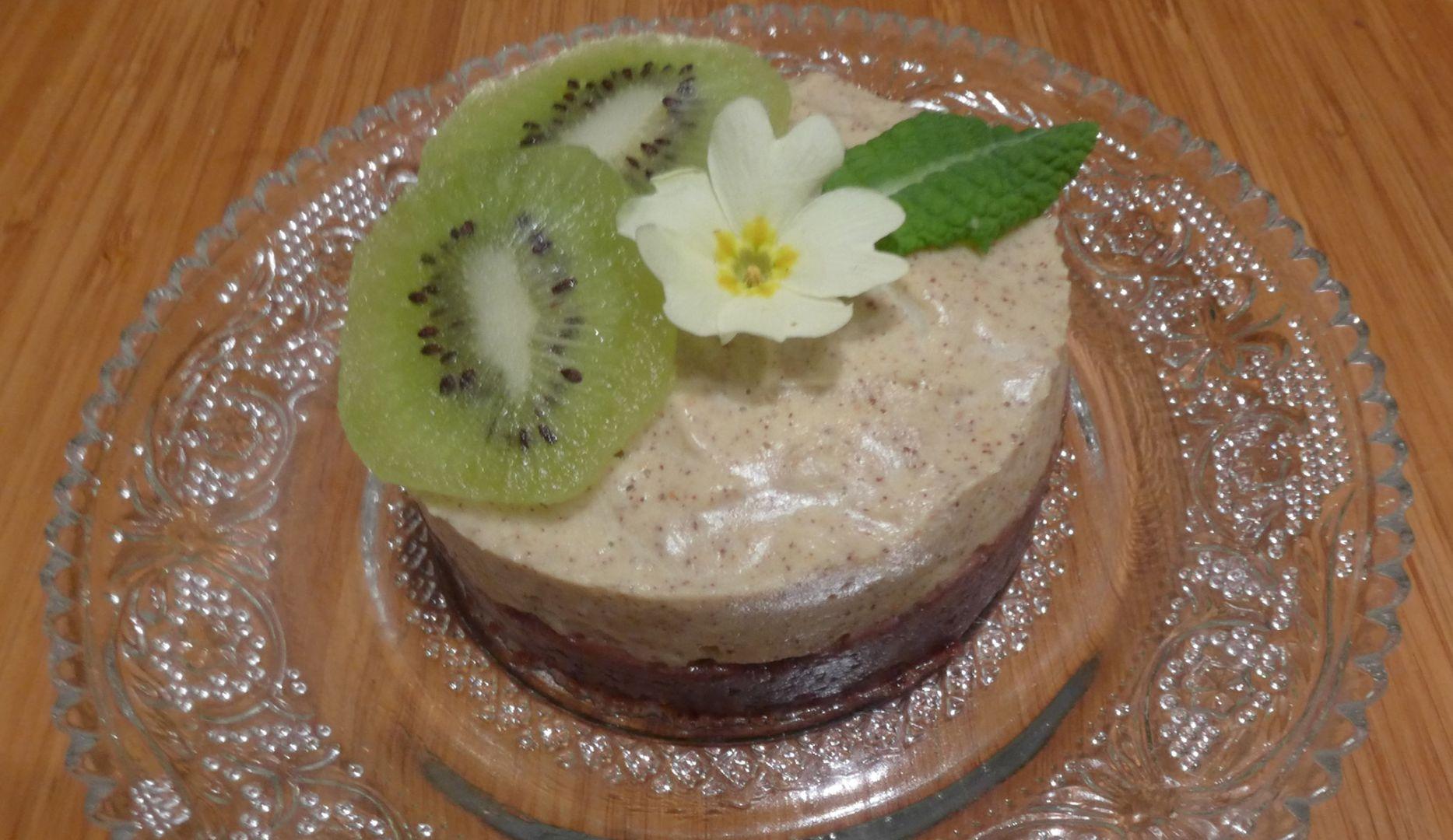 Gâteau chocolaté à la mousse de kiwis