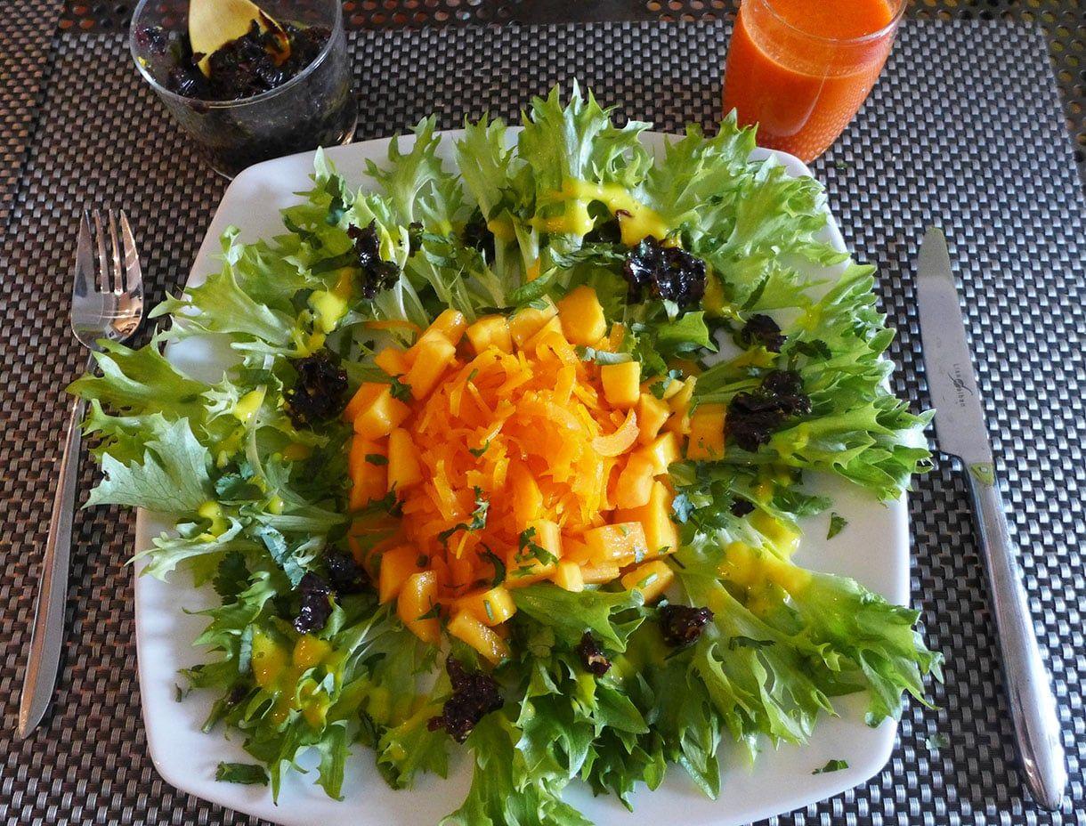Salade de courge butternut à la mangue