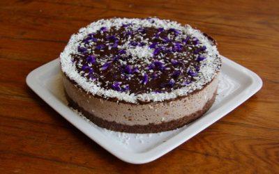 Gâteau à la crème de myrtille