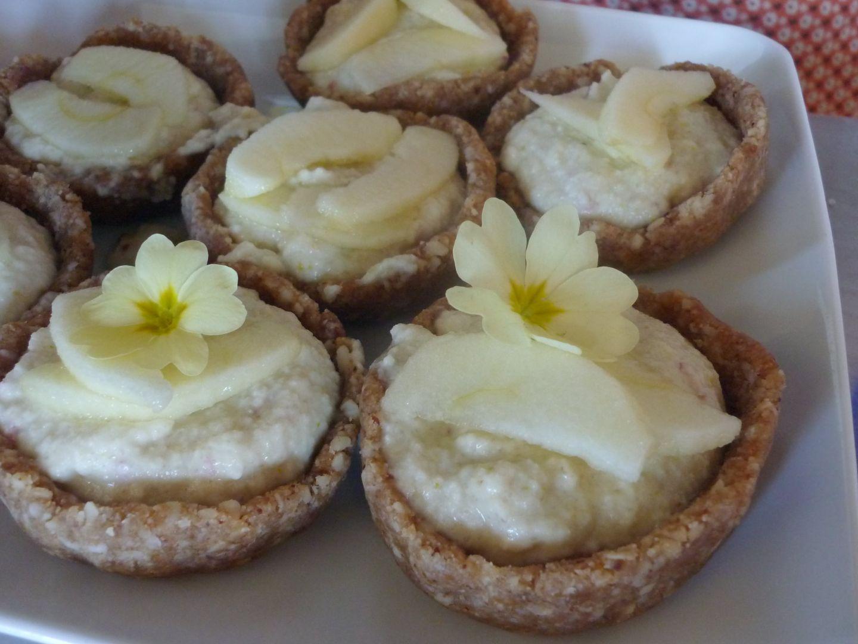 Tartelettes aux pommes et fleurs de Primevère