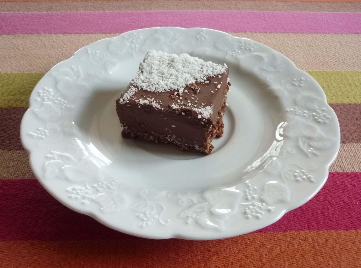 Entremets chocolat coco