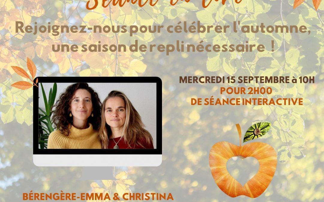 Célébrer l'automne, une saison de repli nécessaire – séance en ligne